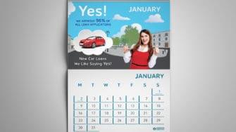 image of Desmond's Credit Union calendar