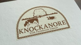 image of Knockanore Cheese product label