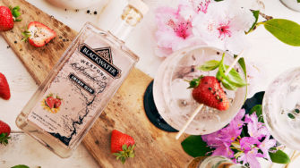 image of Blackwater Wexford Strawberry Gin product label