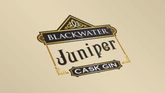 image of Blackwater Juniper Cask Gin product label