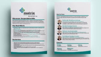 image of Matrix Recruitment one pager
