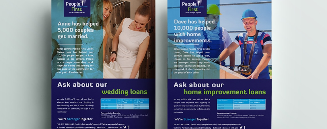 image of People First Credit Union one pager