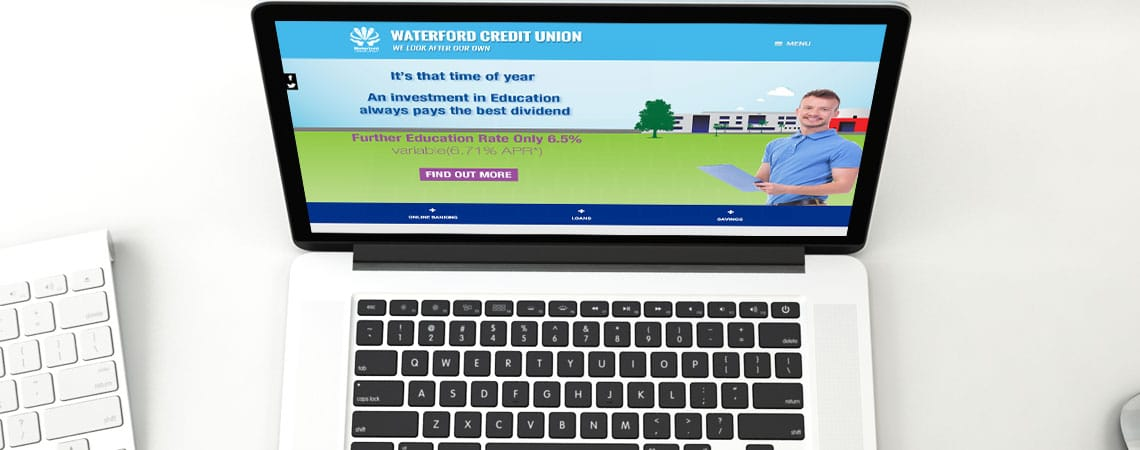image of Desmond Credit Union website on desktop and laptop
