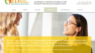 image of QED Accreditation Advisors website 2
