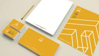 image of Frisby branded stationery