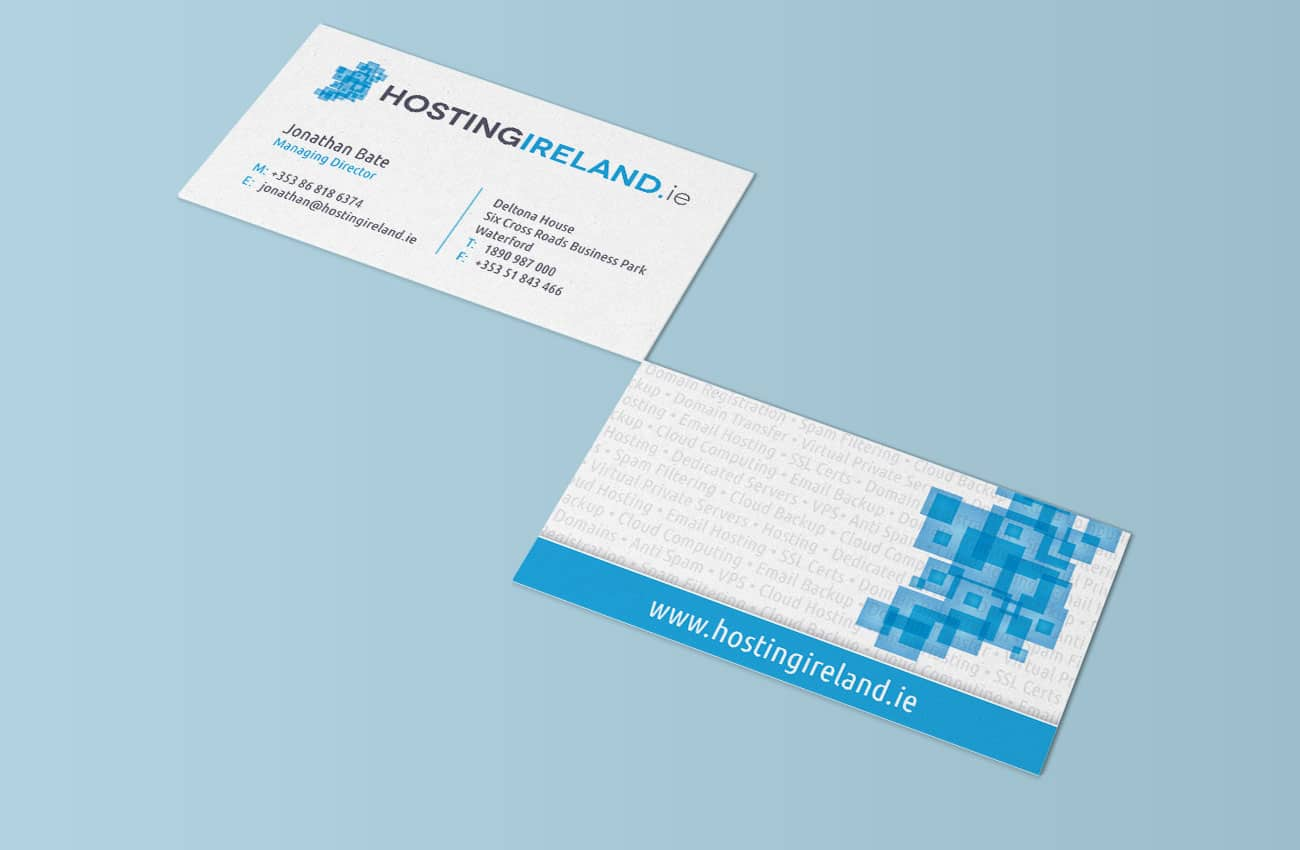 Hosting ireland branding project passion for creative image of hosting ireland branded business cards colourmoves