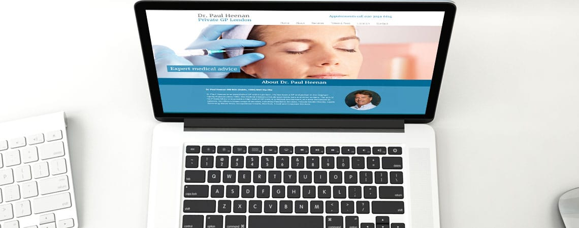image of website for Dr. Paul Heenan