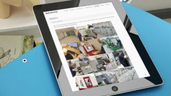 image of Schivo Group website on tablet device