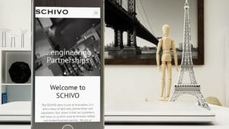 image of Schivo Group website on mobile