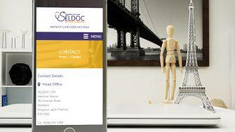 image of SELDOC website on mobile