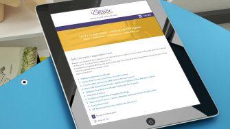 image of SELDOC website on tablet