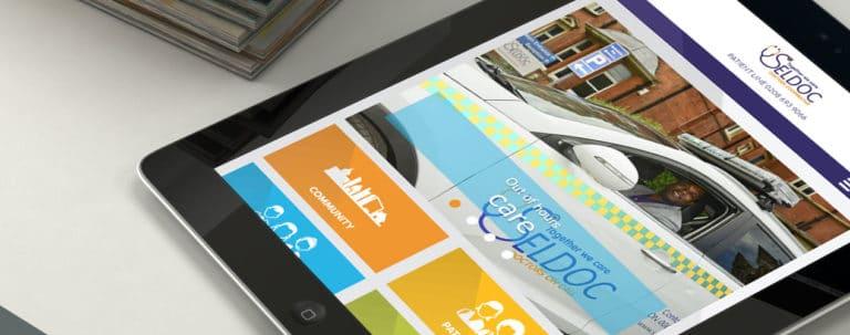 image of SELDOC website on tablet device