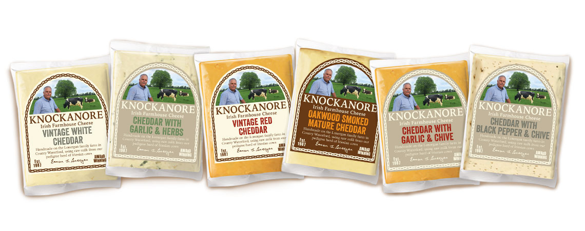 image of Knockanore Cheese packaging
