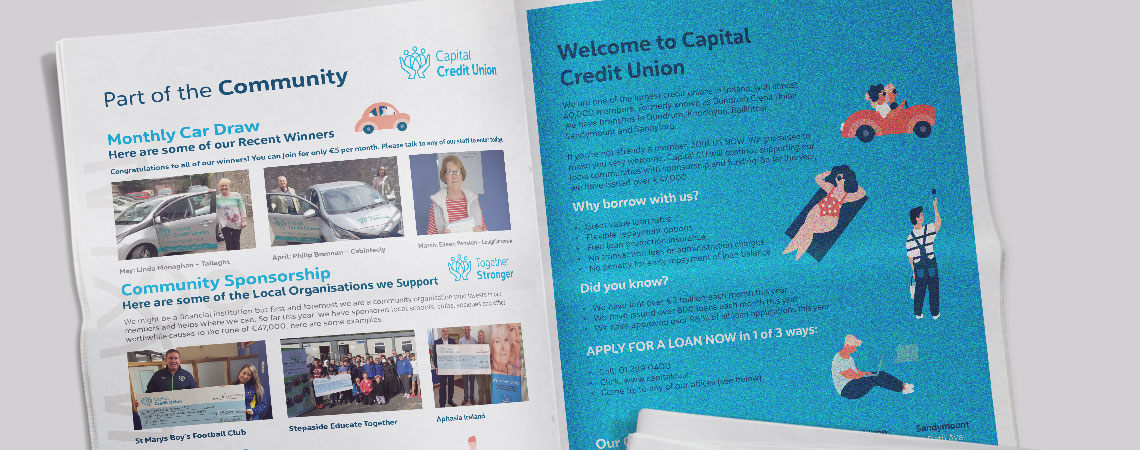 Capital Credit Union in newspaper