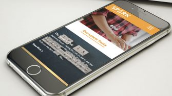 Spark Market Research website on mobile