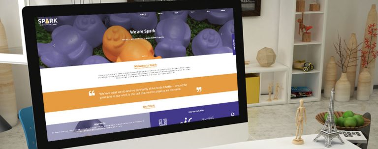 Spark Market Research on a computer