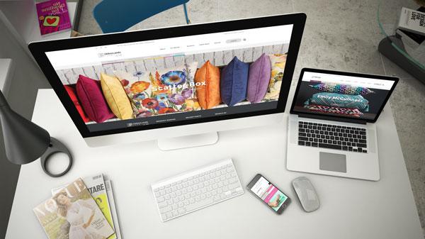 Abbeylands website on multiple screens
