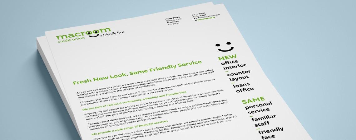 Macroom Credit Union Leaflet / Flyer